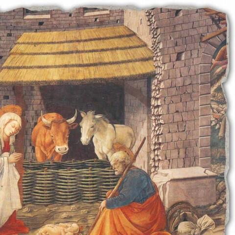 "Fresco handmade Ital Filippo Lippi ""Zrození"""