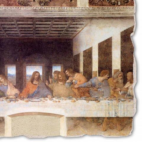 """Fresco provedeno v """"poslední večeři"""" Itálie Leonarda da Vinciho"""