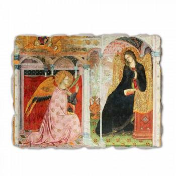 """Fresco Friar Ilario z Viterbo """"Zvěstování"""", zejména"""