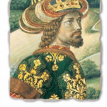 """Gozzoli freska """"průvodu Tří králů s králem Melchior"""""""