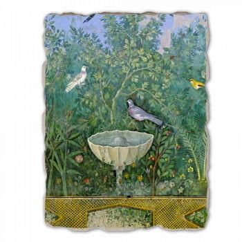 """Největší Roman Fresco """"Garden s Hermes a Fontana"""" část."""