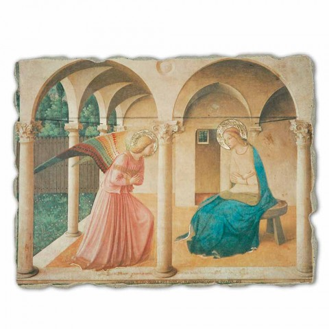 "Great Fresco Beato Angelico ""Zvěstování"" made in Italy"