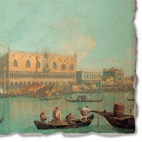 "Fresco velký Canaletto ""Pohled na Palazzo Ducale di Venezia"""
