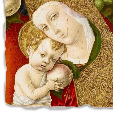 """Great Fresco Carlo Crivelli """"Madonna Lochis"""" 1475"""