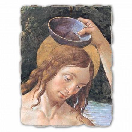 "Great Fresco handmade Perugino ""Křest Krista"""