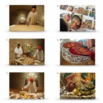 "Great Fresco handmade Sassoferrato ""Madona s dítětem"""