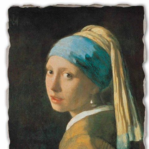 "Great Fresco handmade Vermeer je ""dívka s turbanem"""