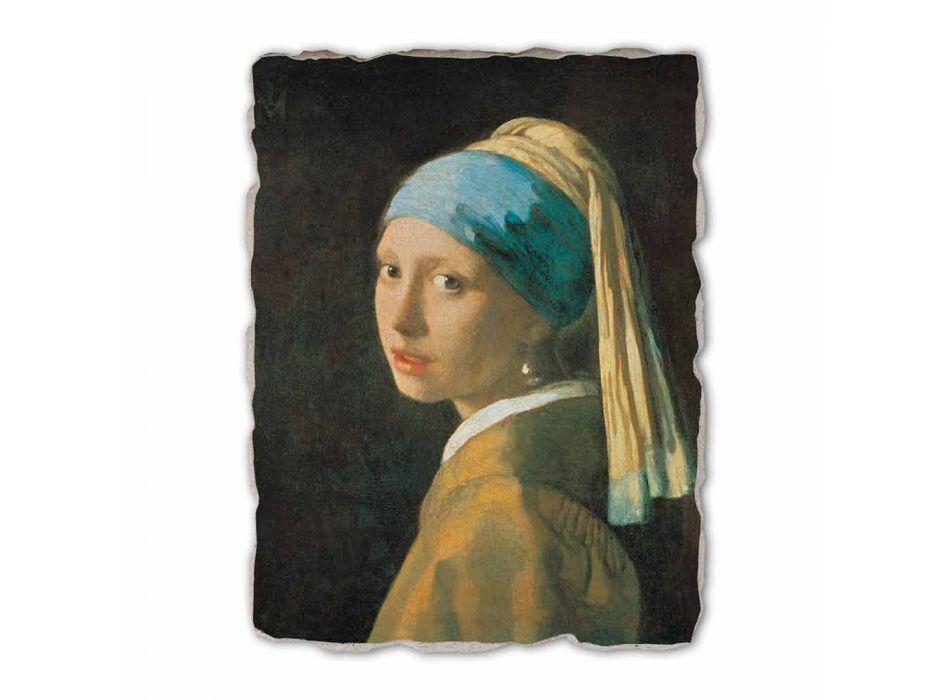 """Great Fresco handmade Vermeer je """"dívka s turbanem"""""""