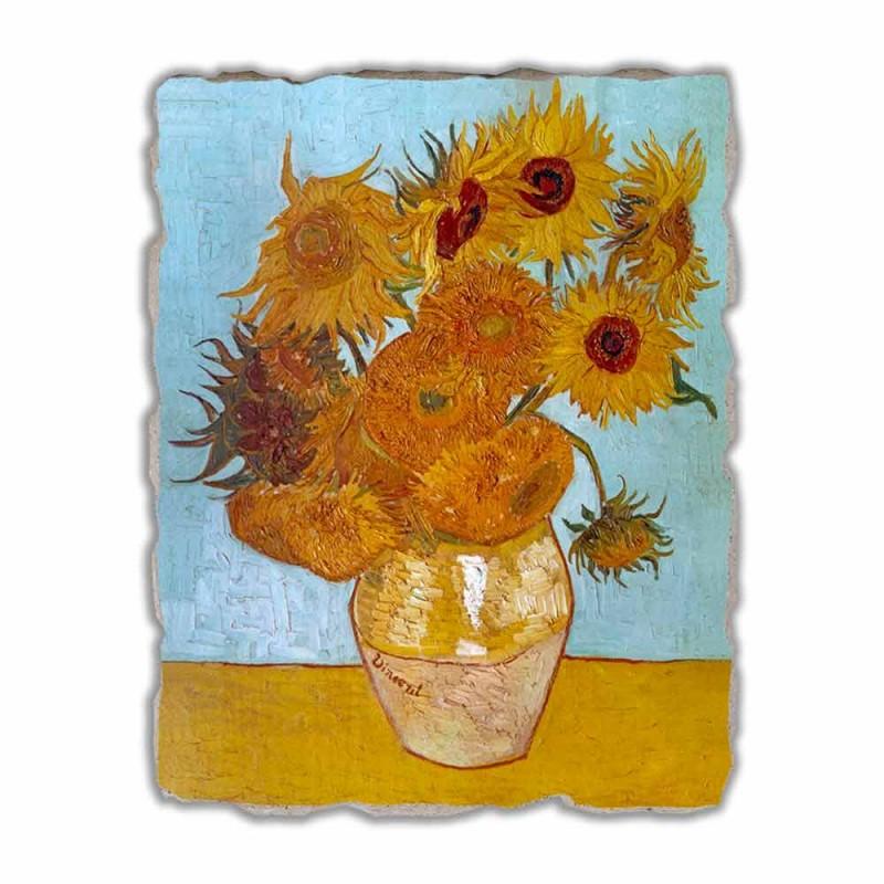 "Great Fresco handmade Vincent Van Gogh ""Váza Slunečnice"""
