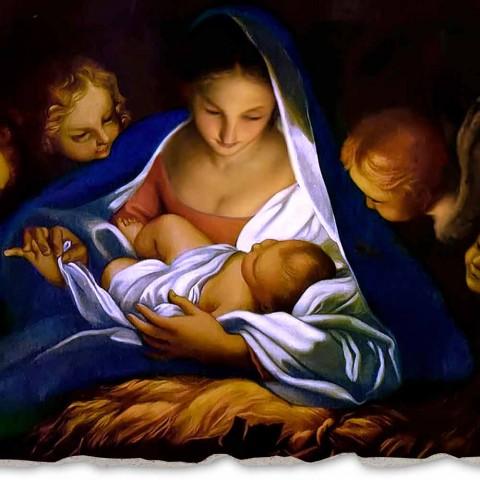 """Great Fresco provádí v Itálii Carlo Maratta """"Zrození"""" 1650"""