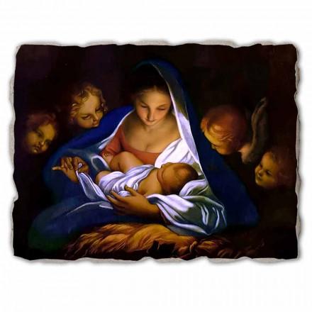 """Great Fresco provádí v Itálii Carlo Maratta """"Narození Páně"""" v roce 1650"""