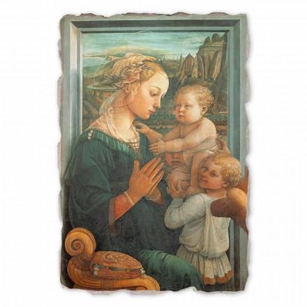 """Great Fresco Filippo Lippi """"Madona s dítětem"""", ruční"""