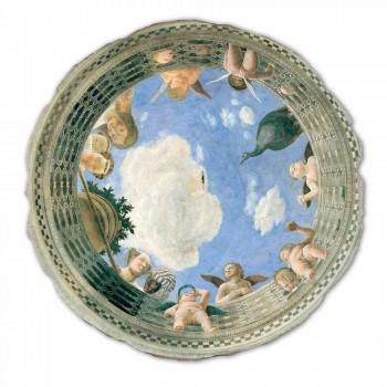 """velký Mantegna Fresco """"Oculus s andělíčky a Dame výhledem"""""""