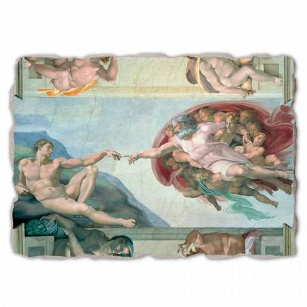 """velký Michelangelo freska """"Stvoření Adama"""", ruční"""