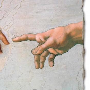 """velký Michelangelo freska """"Stvoření Adama"""" zvláštní"""