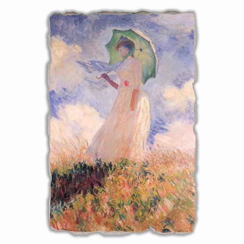 """Great Fresco Monet """"Žena se slunečníkem vychýlený vlevo"""""""