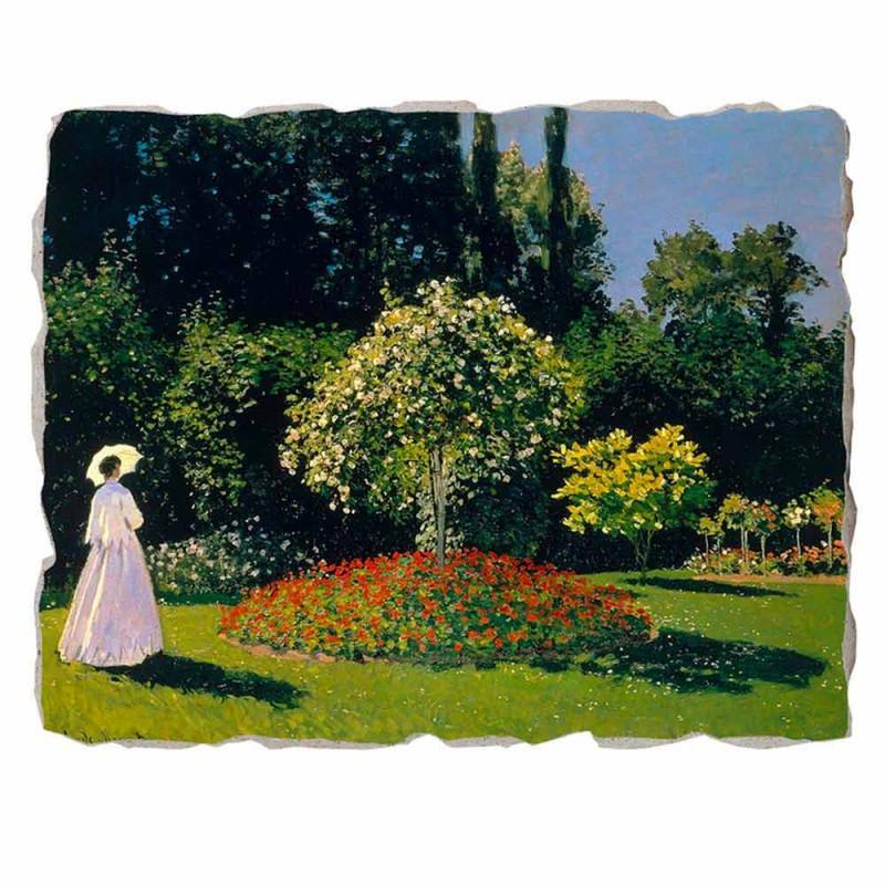 "Great Fresco Monet ""Lady in Garden v Sainte-Adresse"""