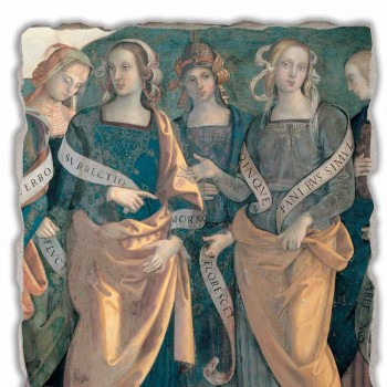 "Great Fresco Perugino ""Lord of the Angels, proroků a Sibyls"""