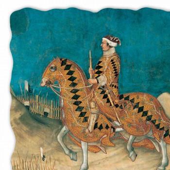 """Fresco velký Simone Martini """"Guidoriccio da Fogliano"""""""