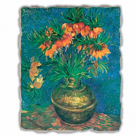 "Great Fresco Vincent Van Gogh ""Still Life with Fritillaries"""