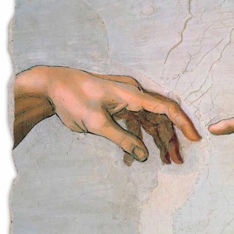 """Fresco vyrobena z části Itálie Michelangelova """"Stvoření Adama""""."""