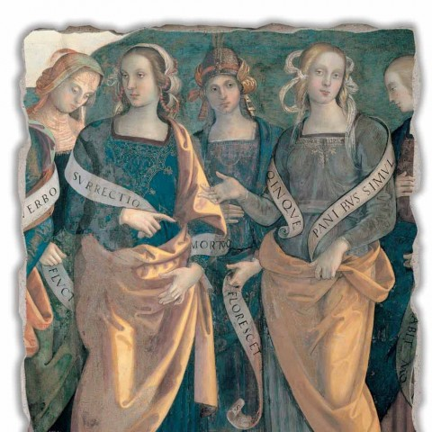 "Fresco Perugino ""Lord of the Angels, proroci a Sibyls"" část."