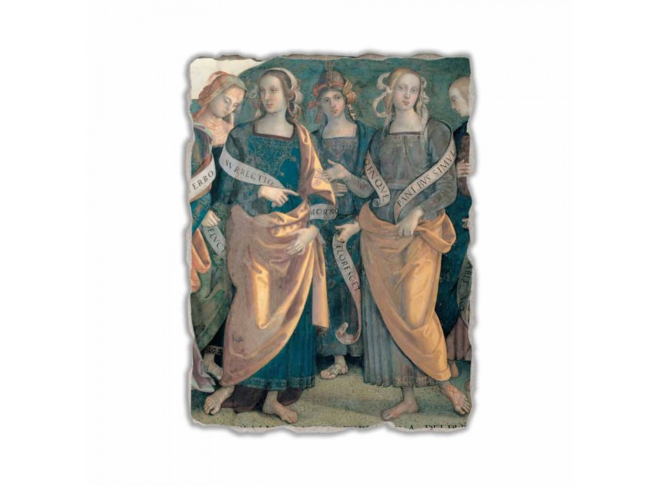 """Fresco Perugino """"Lord of the Angels, proroci a Sibyls"""" část."""