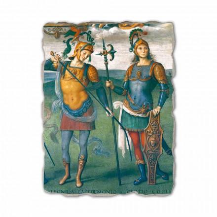 "Perugino freska ""The Fortress, Temperance a šest Hrdinové starověku"""