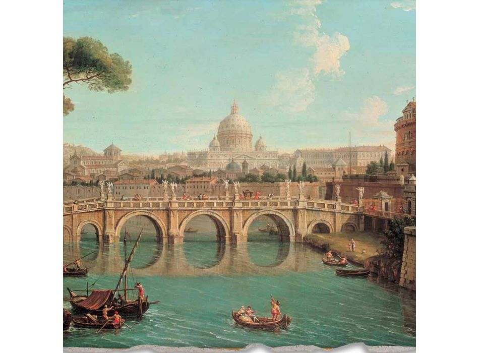 "rozmnožování Fresco Antonio Joli ""View of St. Peter"""
