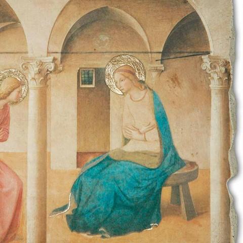 """Beato Angelico Fresco rozmnožování """"Zvěstování"""" ruční"""