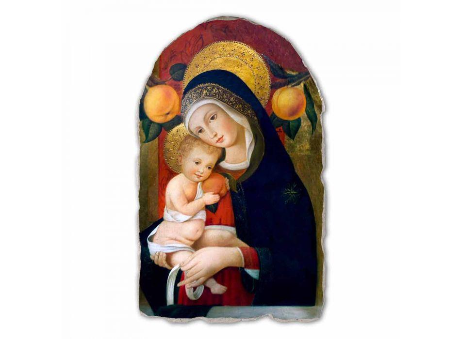 "Fresco reprodukce Carlo Crivelli ""Madona s dítětem"" XV century"