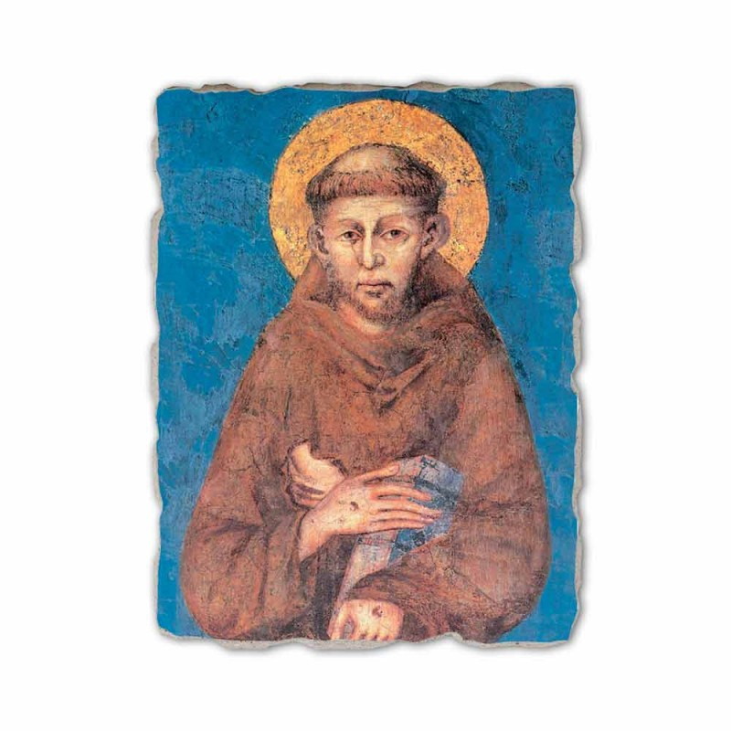 "Fresco rozmnožování Cimabue ""San Francesco"" XIII century"