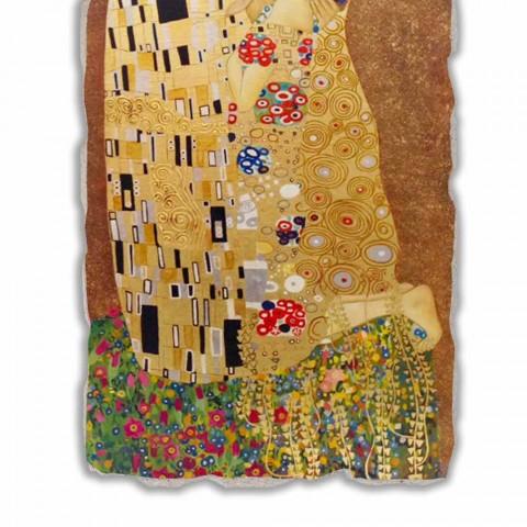 """Fresco reprodukce vyrobeny v Itálii Gustava Klimta """"Polibek"""""""