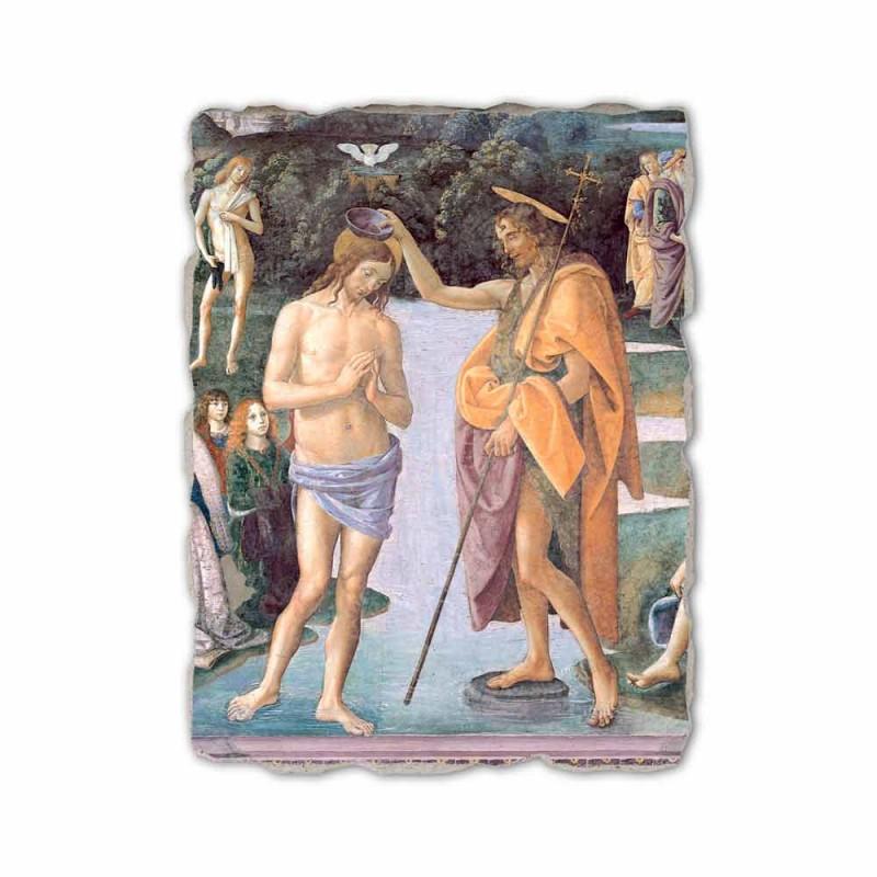 """Fresco rozmnožování Perugino """"Křest Krista"""""""
