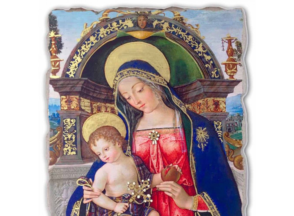 Fresco Pinturicchio hrát Pala Santa Maria dei Fossi