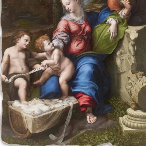 "Fresco rozmnožování R.Sanzio ""Svatá rodina pod dub"""