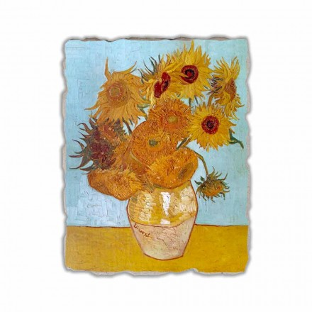 "Fresco reprodukce Vincent Van Gogh ""Váza Slunečnice"""