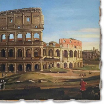 "Vanvitelli Fresco ""Pohled na Koloseum a Konstantinův oblouk"""