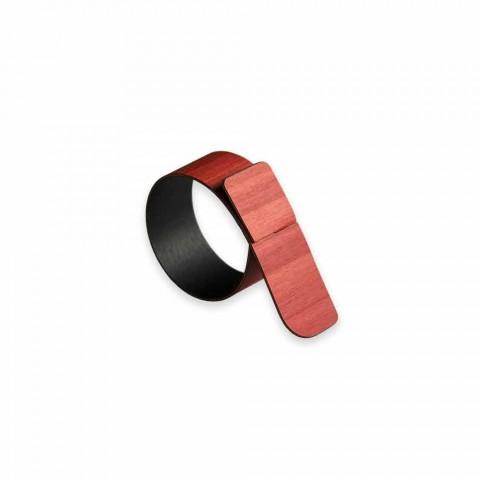 Prstenový ubrousek Prsten ve dřevě a tkanině Made in Italy - Abraham
