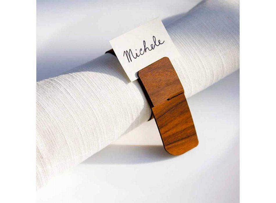 Moderní design Dřevěný ubrousek Prsten Vyrobeno v Itálii - Stan