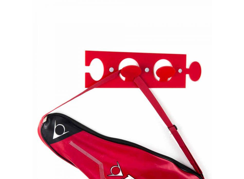 Barevný nástěnný věšák z plexiskla s dvojitým designem, 3 kusy - Fratack