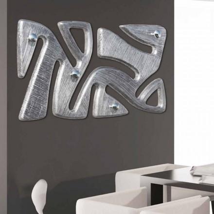 Nástěnný závěsový design ručně zdobený v Holt stříbrném listu