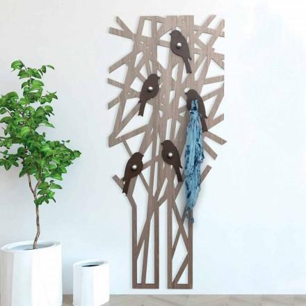 Nástěnná věšák z barevného dřeva s moderním designem - Alberuccell