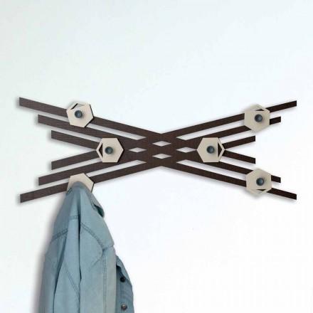 Moderní design nástěnný věšák v barevném lakovaném dřevě - Picassino