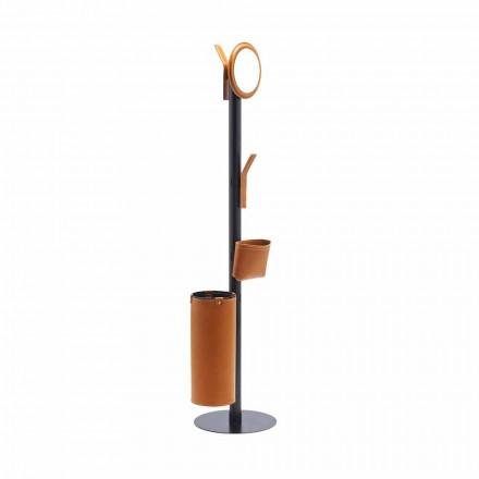 Moderní design podlahový věšák v italské regenerované kůži - Ercole