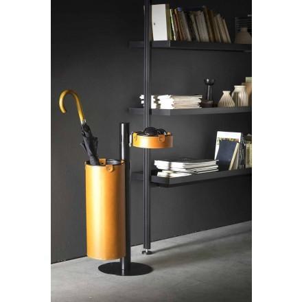 Moderní designový kožený věšák vyrobený v Itálii - Adelfo