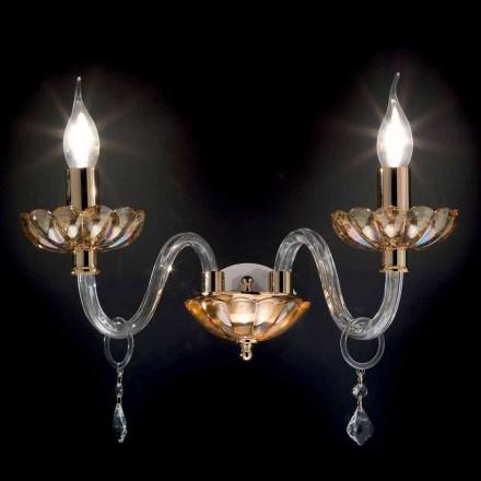 Nástěnné 2 designové klasické světla v krystalové a skleněné Fine