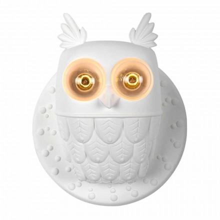 Nástěnná nástěnná svítidla 2 v matně bílém keramickém moderním designu Owl - Owl
