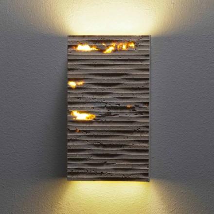 Nástěnné světlo z kamene a kovu Serafini Marmi Pedra vyráběné v Itálii