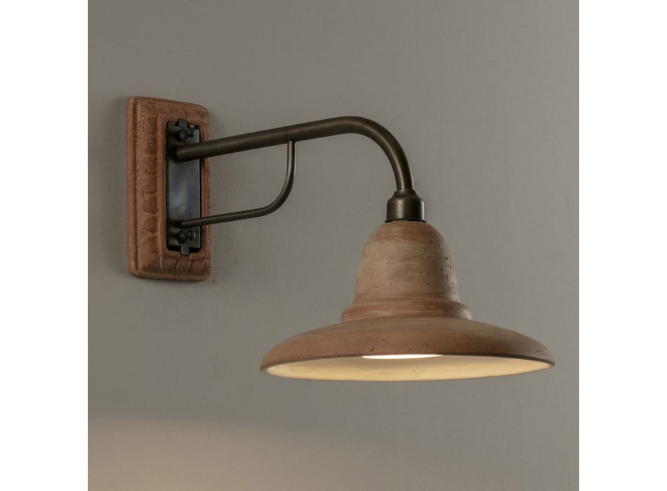 Artisan venkovní nástěnná lampa v Galestro Made in Italy - Toscot Spoleto